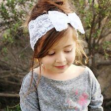 Bebé Niños Niñas Bebé Flor Diadema Para Pelo De Lazo Turbante Lazo Conejo