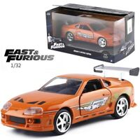 1/32 FAST AND FURIOUS 9 ORANGE 1995 TOYOTA SUPRA Alloy Diecast Toys For KIds