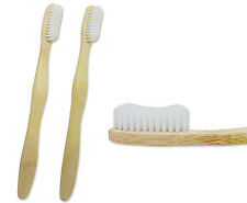 2 x Cepillo de Dientes Bambú ~ adulto medio/empresa, Eco Friendly Bio-degradables Embalaje