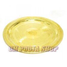 Puja Thali Brass Pooja Aarti plate Prayer Aari brass 6 inch Thali Om Pooja Shop