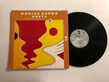 MARION BROWN Duets LP Arista AL-1904 US 1975 VG++ PROMO 7B