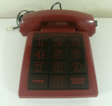 Vintage Audioline 310 Red Big Button Telephone Phone