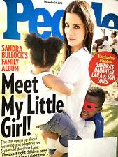 PEOPLE MAGAZINE December 14, 2015 SANDRA BULLOCK ADOPTS A LITTLE GIRL Gift Guide