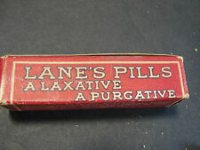 Vintage Lane's Pills A Laxative A Purgative - Full Vial with 20 Pills