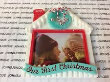 OUR FIRST CHRISTMAS HALLMARK ORNAMENT 2018 DATED PHOTO FRAME NEW IN BOX