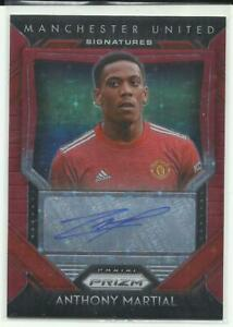 20-21 PANINI PRIZM PREMIER LEAGUE EPL ASIA RED STAR AUTO ANTHONY MARTIAL