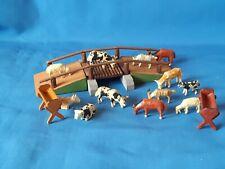 Antike Brücke mit Tierfiguren , Holz , Erzgebirge Figuren