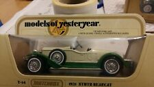 Matchbox models of yesteryear rare Y14 1931 Stutz Bearcat in unopened box.
