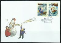 Lithuania 2014 FDC cover Happy New Year ! Merry Christmas ! Snowman,Santa Claus
