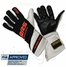 Gants pilote FIA RRS Virage 2 (coutures externes) Noir / Orange TXXL