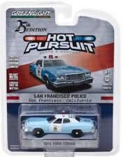 2018 GreenLight HOT PURSUIT SFPD 1974 V8 FORD TORINO POLICE CRUISER - mint card!