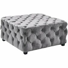 Armen Living Taurus Tufted Ottoman in Gray