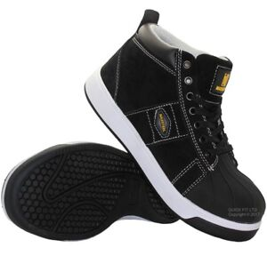 NEW MENS BASEBALL SAFETY LEATHER WORK STEEL TOE CAP HIKING BOOTS SHOES UK SIZES