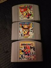 Mario Party 1,2,3 (Nintendo 64, 2001) Cartridges Only