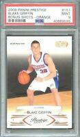 2009-10 panini prestige bonus shots orange #151 BLAKE GRIFFIN rookie card PSA 9