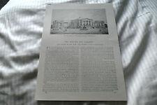 British ART GALLERY Henry TATE c1894 ART JOURNAL ORIGINALE stampa dell'articolo 3 pagine