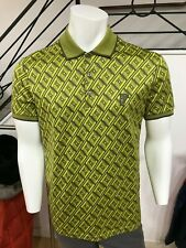 Men's Versace short sleeve yellow polo shirt size M, RRP £265 and now £139