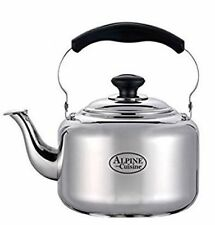 3 Liter Alpine Cuisine Polished Finish Stainless Steel Whistling Tea Kettle