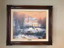 Thomas Kinkade's VICTORIAN CHRISTMAS ll #61/1650 S/N Framed Canvas Lithograph