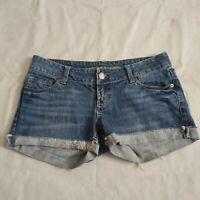AMERICAN EAGLE Cut Off Cuffed Denim Jean SHORT Shorts Size 4 AEO