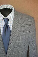 Raffaele Caruso Wool Cashmere Flannel Grey Glen Plaid Check Blazer Italy 52 42 L