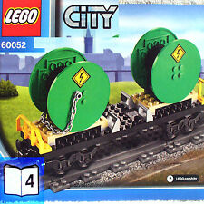 Lego Flatbed Cable Drum Carrier Car (City Cargo Train 60052 B4) NEW