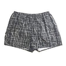 Nike Womens Black White Geometric Print Lined Elastic Waist Athletic Shorts L