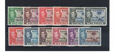 Gambia 1938-48 vals to 1s 3d MM