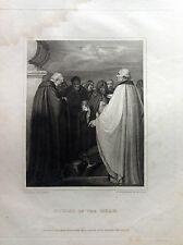 SEPOLTURA N. Schiavonetti  incisione originale 1812  LONDON - BRITISH MUSEUM