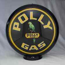 "Polly Gas Pump Globe 13.5"" Glass Lenses Gas Station Home Garage Shop Decor Sign"