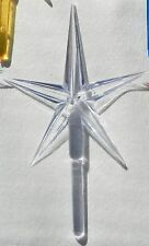 CLEAR LARGE PLASTIC STAR CERAMIC CHRISTMAS TREE TOPPER ORNAMENT CRAFT SUPPLIES