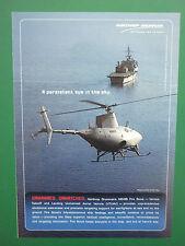 8/2005 PUB NORTHROP GRUMMAN MQ-8B FIRE SCOUT VTUAV NAVY MARINE DRONE ORIGINAL AD
