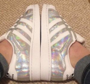 Iridescent Silver Adidas Superstar Size 6 Trainer