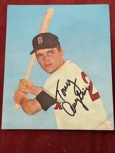 Tony Conigliaro Boston Red Sox 1967 Signed Photo