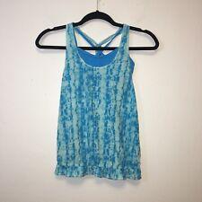 Ivivva Girls Blue Tie Dye Athletic Top Size 10