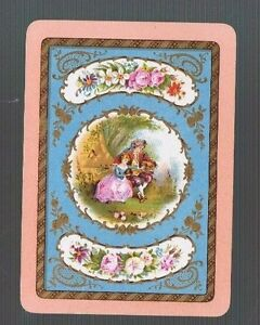 Swap Playing Cards 1 WIDE VINT ENG  REGENCY KIDDIES ROMANTIC  &GOLD  DETAIL 94EW