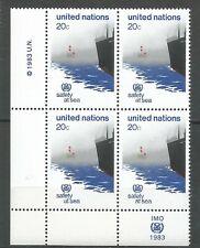 Nations Unies Bloc de 4 YT: 385 neufs ★★ Luxe 1983 / MNH BDF