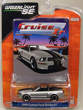SILVER 2008 SHELBY GT CONVERTIBLE GREENLIGHT 1:64 SCALE DIECAST METAL MODEL CAR