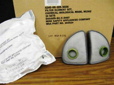 New Old Stock, Sealed Package - M13A2 303924 Gas Mask Filters for M17 - 1 Set