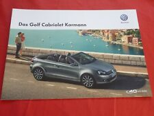 "VW Golf VI Cabriolet ""Karmann"" Sondermodell Prospekt Brochure Depliant von 2014"