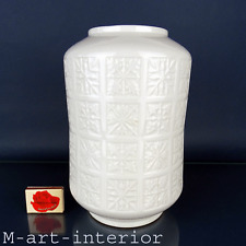 alte Porzellan Vase Eis-Sterne Relief OP ART big porcelain ice star by Edelstein