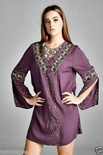 Boho Dresses for Women with Embroidered