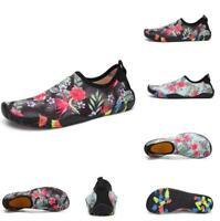 Men's Barefoot Water Skin Floral Aqua Socks Beach Swim Surf Yoga Exercise Shoes
