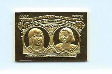 1893 United States Isabella & Columbus $4 Stamp 24 Karat Gold Over Solid Silver