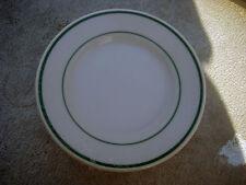 "9 Buffalo China 2 Green Stripes 5 1/2"" Plates New Unused Factory Sealed"