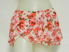Guess Junior L Bikini cover up Floral Pinks Smell the Roses Skirt