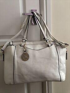 ❤️ Marina Galanti White Faux Leather Large Tote Shoulder Bag.