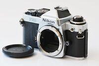 [Mint] Nikon FE2 Silver Body 35mm Film Camera SLR from Japan N272