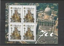Gibilterra 2009 700TH ANNIV Madonna dell'Europa Foglio SG, 1316 U/MM N/H LOTTO 3830A
