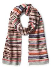 Gap NWT Crazy Fair Isle Stripe Merino Wool Blend Scarf $45